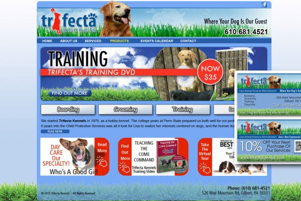 website designer, Brian hunter,trifecta kennel